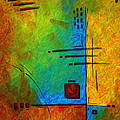Original Abstract Painting Digital Conversion For Textured Effect Resonating IIi By Madart by Megan Duncanson