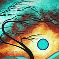Original Bold Colorful Abstract Landscape Painting Family Joy I By Madart by Megan Duncanson