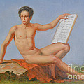 Original Classic Oil Painting Man Body Art Male Nude#16-2-5-43 by Hongtao Huang