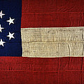 Original Stars And Bars Confederate Civil War Flag by Daniel Hagerman