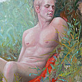 Original Impression Oil Painting Man Body Art Male Nude#16-2-5-50 by Hongtao     Huang