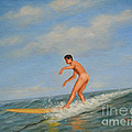 original Oil painting  male nude  man art  in the sea on canvas#16-2-5-01 by Hongtao Huang