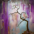 Original Painting Expressionist Contemporary Tree Art by Gray  Artus