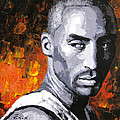 Original Palette Knife Painting Kobe Bryant by Enxu Zhou