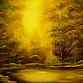Green Forest Glow-original Sold- Buy Giclee Print Nr 35 Of Limited Edition Of 40 Prints  by Eddie Michael Beck
