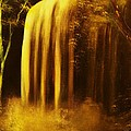 Moon Shadow Waterfalls- Original Sold - Buy Giclee Print Nr 30 Of Limited Edition Of 40 Prints    by Eddie Michael Beck