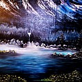 Winter Grace-original Sold-buy Giclee Print Nr 32 Of Limited Edition Of 40 Prints  by Eddie Michael Beck
