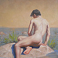 Original  Young Man Body Oil Painting  Gay Art Male Nude#16-2-3-04 by Hongtao     Huang