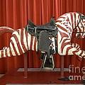 Original Zebra Carousel Ride by L Wright