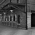 Oriole Park Box Office Bw by Susan Candelario