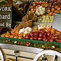 Work Hard And Be - Country Onion Cart by Michele Myers