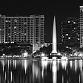 Orlando Black And White Night by Frozen in Time Fine Art Photography