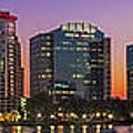 Orlando Florida Skyline Panorama by Susan Candelario
