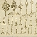 Ornamental Knobs Shaped As Domes by Jean Francois Albanis de Beaumont
