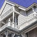 Ornate Balcony With View by Lynn Palmer