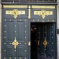 Ornate Door On Champs Elysees In Paris France by Richard Rosenshein