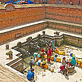 Ornate Fountains With Holy Water From The Bagmati River In Patan Durbar Square In Lalitpur-nepal   by Ruth Hager