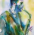 Ornette Coleman - Watercolor Portrait by Fabrizio Cassetta