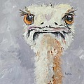 Oscar - An Ostrich by Saundra Lane Galloway