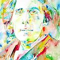 Oscar Wilde Watercolor Portrait.1 by Fabrizio Cassetta