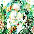 Oscar Wilde Watercolor Portrait.2 by Fabrizio Cassetta