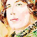 Oscar Wilde Watercolor Portrait.3 by Fabrizio Cassetta