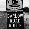Barlow Road Cutoff Sign by David Lee Thompson