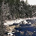 Ouareau River And Snow Covered by Perry Mastrovito