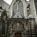 Oude Kerk Door With Bikes Amsterdam by Teresa Mucha