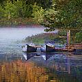 Our Canoes Await by MaryAnn Barry