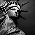 Our Lady Liberty In B/w by Dyle   Warren