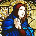 Our Lady Of Sorrows In Stained Glass by Philip Ralley