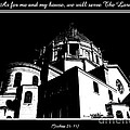 Our Lady of Victory Basilica in Black and White