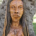 Our Lady Olive Wood Sculpture by Eric Kempson