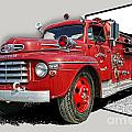 Out Of The Photo Fire Truck by Randy Harris