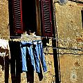 Out To Dry In San Gimigniano Tuscany by Jacqueline M Lewis