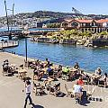 Outdoor Cafe Wellington New Zealand by Colin and Linda McKie