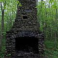 Outdoor Fireplace by Catherine Gagne