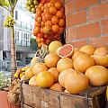 Outdoor Fruit Juice Stall  by Gal Eitan