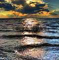 Outer Banks - Radical Sunset On Pamlico by Dan Carmichael