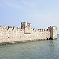 Outer Wall Scaligero Castle And Lake Garda by Matthias Hauser