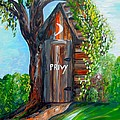 Outhouse - Privy - The Old Out House by Eloise Schneider Mote