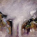 Outpour Modern Contemporary Abstract Original Painting On Canvas by Gray  Artus