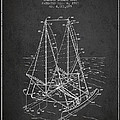 Outrigger Sailboat Patent From 1977 - Dark by Aged Pixel