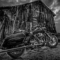 Outside The Barn Bw by Yo Pedro