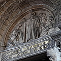Outside The Basilica Of The Sacred Heart Of Paris - Sacre Coeur - Paris France - 011312 by DC Photographer