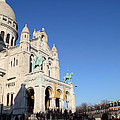 Outside The Basilica Of The Sacred Heart Of Paris - Sacre Coeur - Paris France - 01136 by DC Photographer