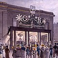 Outside The Theatre Royal, Drury Lane by Robert Blemell Schnebbelie