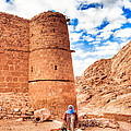 Outside The Walls Of Historic Saint Catherine's Monastery - Egypt by Mark E Tisdale