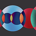 Overlapping Multi-colored Circles by Miragec